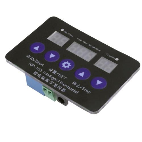 KR-103 12V温度コントローラデジタルサーモスタットヒートクールスイッチ