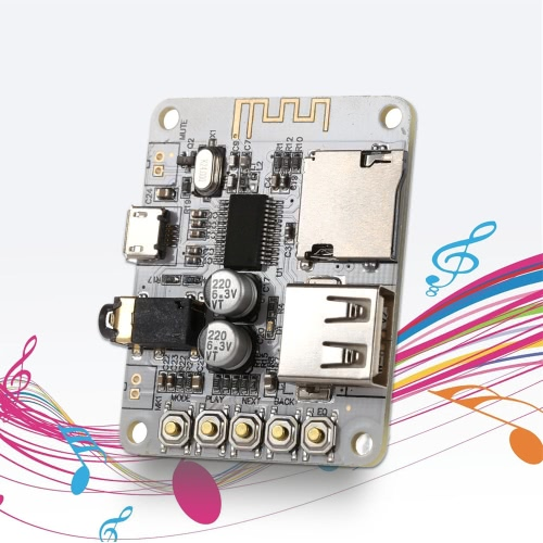 USB DC 5V Bluetooth 2.1 Audio Receiver Board Wireless Stereo Music Module with TF Card SlotTest Equipment &amp; Tools<br>USB DC 5V Bluetooth 2.1 Audio Receiver Board Wireless Stereo Music Module with TF Card Slot<br>