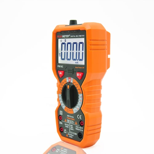 PEAKMETER PM18C True RMS Multifunctional Digital Multimeter Measuring AC/DC Voltage Current Resistance Capacitance Frequency TempeTest Equipment &amp; Tools<br>PEAKMETER PM18C True RMS Multifunctional Digital Multimeter Measuring AC/DC Voltage Current Resistance Capacitance Frequency Tempe<br>