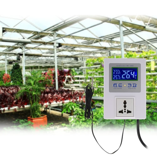 AC110-240V 10A LCD Digital Intelligent Pre-wired Temperature Controller Outlet with Sensor Thermostat Heating Cooling Control SwitTest Equipment &amp; Tools<br>AC110-240V 10A LCD Digital Intelligent Pre-wired Temperature Controller Outlet with Sensor Thermostat Heating Cooling Control Swit<br>