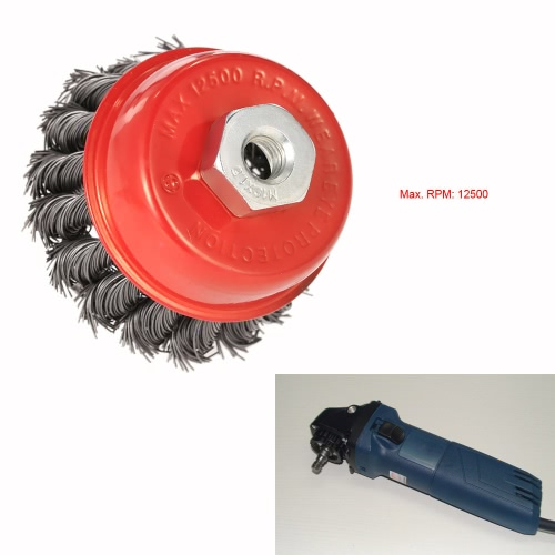 75mm 3 Steel Wire Wheel Knotted Cup Brush Rotary Steel Wire Brush Crimp Cup Wheel For Angle GrinderTest Equipment &amp; Tools<br>75mm 3 Steel Wire Wheel Knotted Cup Brush Rotary Steel Wire Brush Crimp Cup Wheel For Angle Grinder<br>