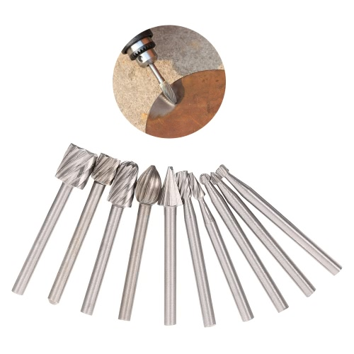 Electric Grinding Accessories 10pcs 3mm Shank HSS Router Bits Rotary Burr for Drill Woodworking Tool Set CNC EngravingTest Equipment &amp; Tools<br>Electric Grinding Accessories 10pcs 3mm Shank HSS Router Bits Rotary Burr for Drill Woodworking Tool Set CNC Engraving<br>