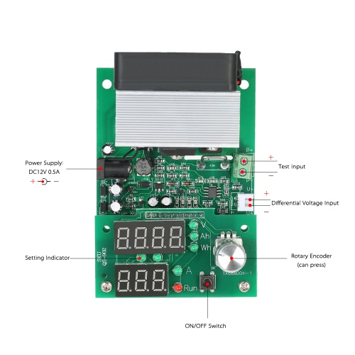 Multi-functional Constant Current Electronic Load 9.99A 60W 30V Discharge Power Supply Battery Capacity Tester ModuleTest Equipment &amp; Tools<br>Multi-functional Constant Current Electronic Load 9.99A 60W 30V Discharge Power Supply Battery Capacity Tester Module<br>