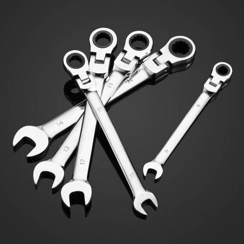 KKmoon 5pcs 8/10/12/13/14mm Double-ended Combination Ratchet Spanner Open-ended Wrench Set Car Automotive Repair Hardware Tools FiTest Equipment &amp; Tools<br>KKmoon 5pcs 8/10/12/13/14mm Double-ended Combination Ratchet Spanner Open-ended Wrench Set Car Automotive Repair Hardware Tools Fi<br>