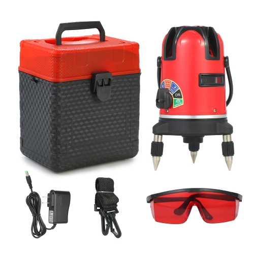 2 Lines Professional Automatic Laser Level 360 Degree Rotary Horizontal and Vertical Cross Line Leveling Laser Level Kit with ProtTest Equipment &amp; Tools<br>2 Lines Professional Automatic Laser Level 360 Degree Rotary Horizontal and Vertical Cross Line Leveling Laser Level Kit with Prot<br>