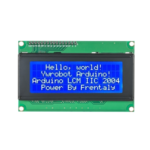 Serial IIC/I2C/TWI 2004 204 20X4 Character Blue LCD Display Module for ArduinoTest Equipment &amp; Tools<br>Serial IIC/I2C/TWI 2004 204 20X4 Character Blue LCD Display Module for Arduino<br>
