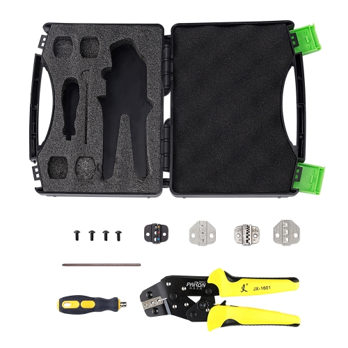 PARON Professional Wire Crimpers Engineering Ratcheting Terminal Crimping Pliers Bootlace Ferrule Crimper Tool Cord End TerminalsTest Equipment &amp; Tools<br>PARON Professional Wire Crimpers Engineering Ratcheting Terminal Crimping Pliers Bootlace Ferrule Crimper Tool Cord End Terminals<br>