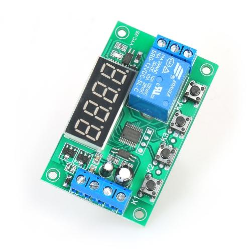 قابل للتعديل 5A LED تأخير وحدة التتابع تأخير لوحة التحكم الموقت التبديل