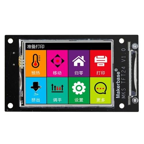 Controlador esperto tocado cor da impressora 3D mini tela de exposição de 2,4 polegadas MKS TFT24