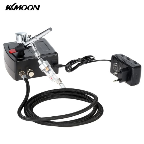 KKmoon 100-250V Professional Gravity Feed Dual Action Airbrush Air Compressor Kit for Art Painting Tattoo Manicure Craft Cake SpraTest Equipment &amp; Tools<br>KKmoon 100-250V Professional Gravity Feed Dual Action Airbrush Air Compressor Kit for Art Painting Tattoo Manicure Craft Cake Spra<br>