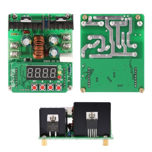 B3606 Precision NC Digital DC-DC Adjustable Step Down Module Constant Voltage Current Power Input 6-40V Output 0-36V 6A ChargerTest Equipment &amp; Tools<br>B3606 Precision NC Digital DC-DC Adjustable Step Down Module Constant Voltage Current Power Input 6-40V Output 0-36V 6A Charger<br>