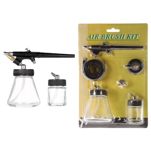 New Beginner Siphon Feed 0.8mm Spray Paint Airbrush Mini Single Action Air Brush Kit with Hose Bottle Spray Tool for Body PaintingTest Equipment &amp; Tools<br>New Beginner Siphon Feed 0.8mm Spray Paint Airbrush Mini Single Action Air Brush Kit with Hose Bottle Spray Tool for Body Painting<br>