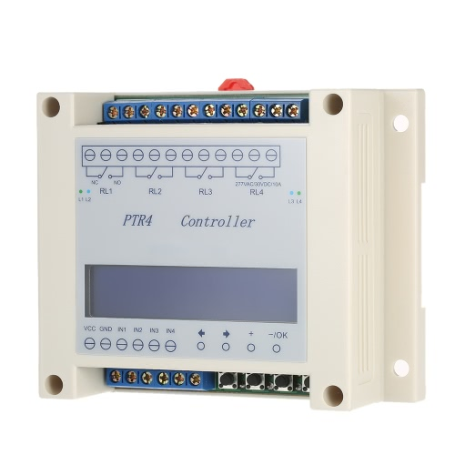DC6-40V 4-Channel Programmable Digital Time Relay Timer Controller Delay Switch Module Independent Timing Cycle LCD DisplayTest Equipment &amp; Tools<br>DC6-40V 4-Channel Programmable Digital Time Relay Timer Controller Delay Switch Module Independent Timing Cycle LCD Display<br>
