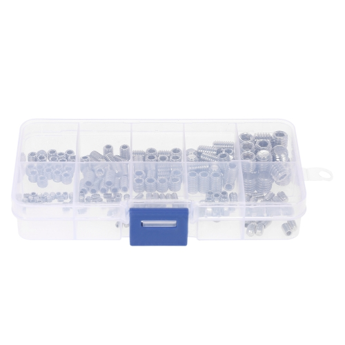 200pcs Stainless Steel Socket Screws Allen Head Socket Hex Set Grub Screw Assortment Cup Point Column M3-M6/M8 Hexagonal Screw KitTest Equipment &amp; Tools<br>200pcs Stainless Steel Socket Screws Allen Head Socket Hex Set Grub Screw Assortment Cup Point Column M3-M6/M8 Hexagonal Screw Kit<br>