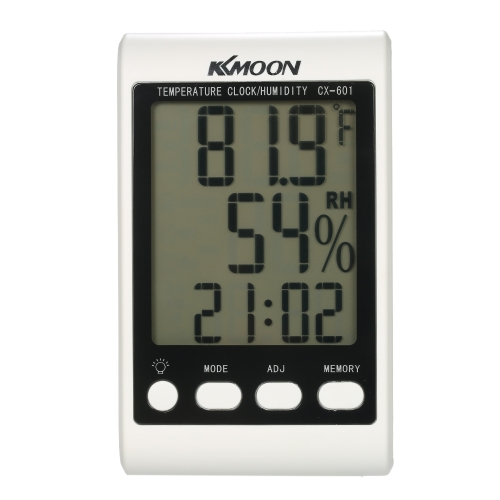 KKmoon LCD ? / ? Digital Thermometer Hygrometer Temperature Humidity Meter Alarm Clock with Blue BacklightTest Equipment &amp; Tools<br>KKmoon LCD ? / ? Digital Thermometer Hygrometer Temperature Humidity Meter Alarm Clock with Blue Backlight<br>