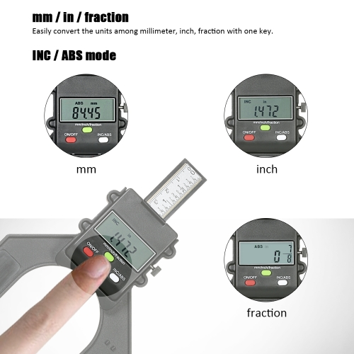 0-130mm Digital LCD Display Height Gauge Depth Gauge Table Saw Height Gauge with Three Measurement Units Locking Screw for WoodworTest Equipment &amp; Tools<br>0-130mm Digital LCD Display Height Gauge Depth Gauge Table Saw Height Gauge with Three Measurement Units Locking Screw for Woodwor<br>