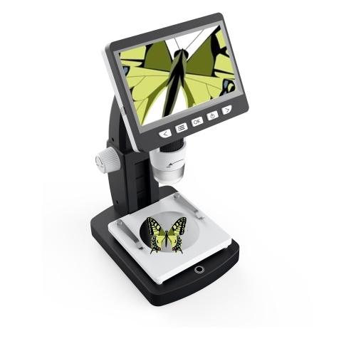 inskam Microscopio digital portátil de escritorio LCD