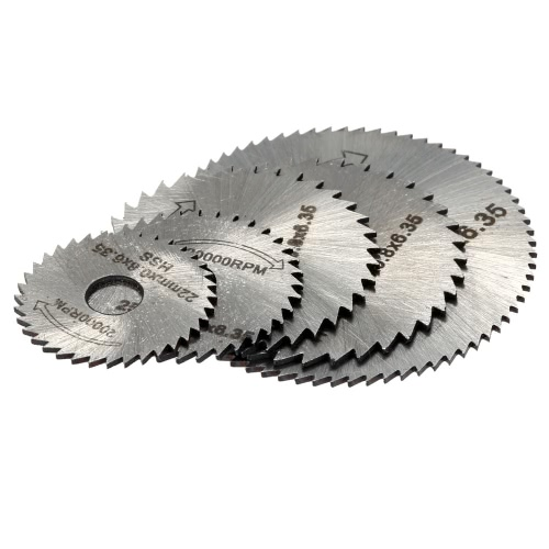 5pcs HSS Rotary Blades Cutting Discs with Mandrel Cut-off Circular Saw for Dremel Rotary Tool Electric Grinding Accessories