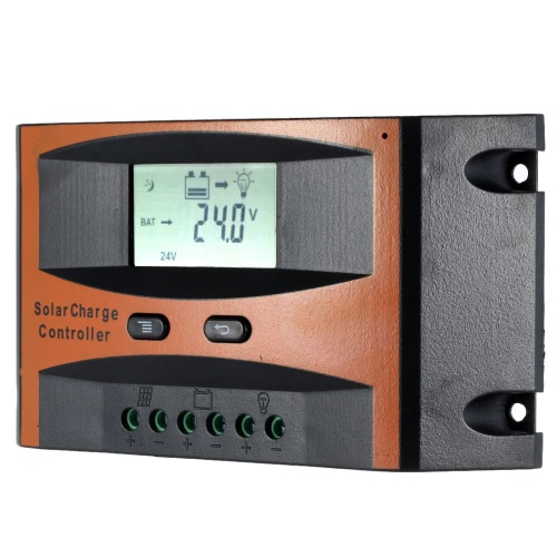 25A 12V/24V Solar Charge Controller PWM Charging Temperature Compensation Overload Protection LCD Display for Solar Off-grid SysteTest Equipment &amp; Tools<br>25A 12V/24V Solar Charge Controller PWM Charging Temperature Compensation Overload Protection LCD Display for Solar Off-grid Syste<br>
