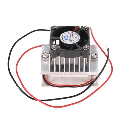 DIY Kit термоэлектрический Пельтье Cooler Refrigeration Cooling Проводимость модуль системы теплоотвода + вентилятор + TEC1-12706