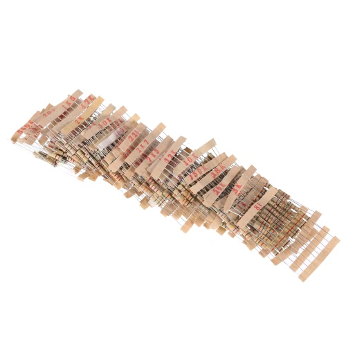 480pcs 1W 48 Values 1K ohm to 2M ohm Carbon Film Resistors Assortment Kit Electronic ComponentsTest Equipment &amp; Tools<br>480pcs 1W 48 Values 1K ohm to 2M ohm Carbon Film Resistors Assortment Kit Electronic Components<br>