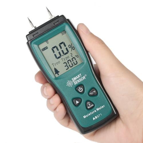 SMART SENSOR Handheld Mini Wood Moisture Meter Digital LCD Lumber Damp Meter Detector Tester 2 Pin Probe Range 2%?70%Test Equipment &amp; Tools<br>SMART SENSOR Handheld Mini Wood Moisture Meter Digital LCD Lumber Damp Meter Detector Tester 2 Pin Probe Range 2%?70%<br>