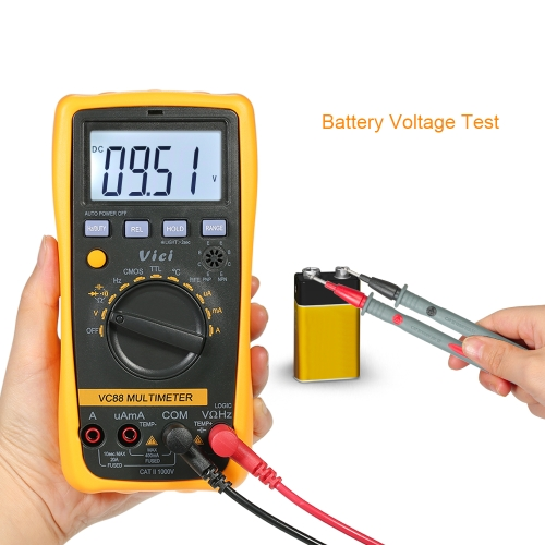 Vici Auto Range Multi-functional Digital Multimeter DMM with CMOS TTL Logic Detector DC AC Voltage Current Meter Resistance CapaciTest Equipment &amp; Tools<br>Vici Auto Range Multi-functional Digital Multimeter DMM with CMOS TTL Logic Detector DC AC Voltage Current Meter Resistance Capaci<br>