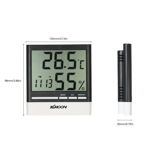KKmoon LCD ? / ? Digital Thermometer Hygrometer Temperature Humidity Meter Alarm ClockTest Equipment &amp; Tools<br>KKmoon LCD ? / ? Digital Thermometer Hygrometer Temperature Humidity Meter Alarm Clock<br>