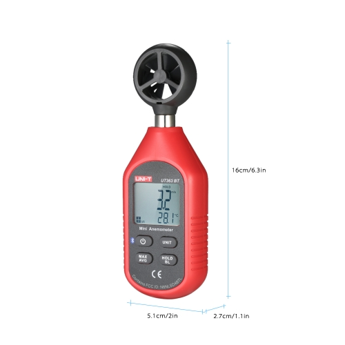 UNI-T UT363BT Mini LCD Digital Anemometer Handheld Wind Speed Meter Air Velocity Temperature Tester with BlacklightTest Equipment &amp; Tools<br>UNI-T UT363BT Mini LCD Digital Anemometer Handheld Wind Speed Meter Air Velocity Temperature Tester with Blacklight<br>