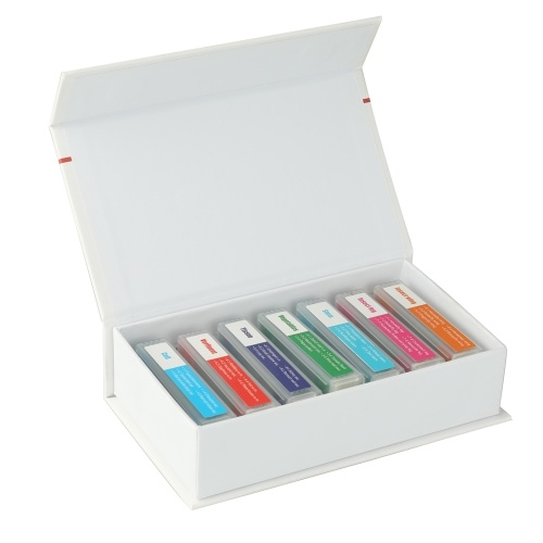 35 piezas de muestras coloridas de microscopio Diapositivas de muestras biológicas Regalos primarios y secundarios