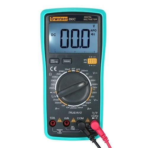 متعددة الوظائف المحمولة lcd رقمي حقيقي rms المتر مع كاشف الحرارة dc / ac الجهد الحالي متر السعة المقاومة ديود اختبار