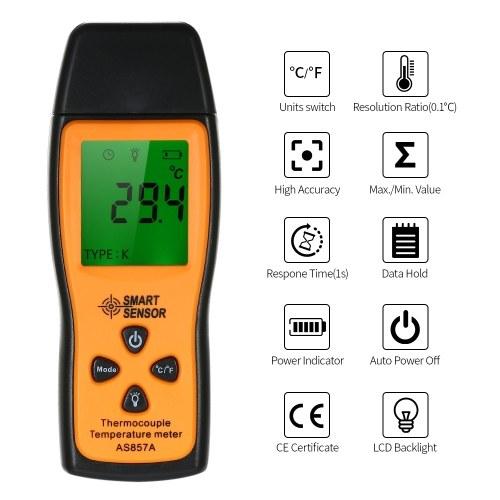 SMART SENSOR AS857A Mini K-type Thermometer
