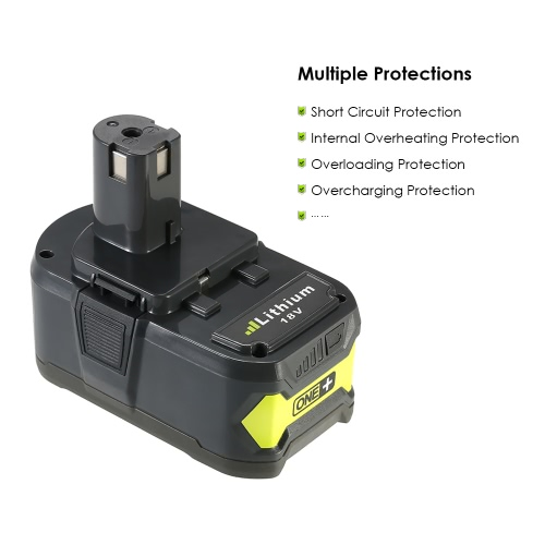 Meterk P108 18V 4.0Ah Power Tools Battery High Capacity Rechargeable Lithium Replacement Battery Pack for RyobiTest Equipment &amp; Tools<br>Meterk P108 18V 4.0Ah Power Tools Battery High Capacity Rechargeable Lithium Replacement Battery Pack for Ryobi<br>