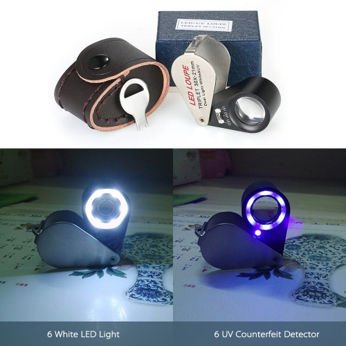 30X Mini Multi-functional Handheld LED Jeweler Loupe Portable 21mm 6 Jeweler Loupe Magnifier Triplet Magnifying Glass Built-in 6-sTest Equipment &amp; Tools<br>30X Mini Multi-functional Handheld LED Jeweler Loupe Portable 21mm 6 Jeweler Loupe Magnifier Triplet Magnifying Glass Built-in 6-s<br>