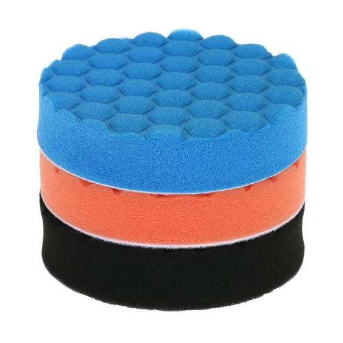 3PCS Brand New 3 80mm/5 125mm/6 150mm/7 180mm Car Polishing Sponge Pads Waxing Buffing Pad Foam Kit Set for Car Polisher BuffeTest Equipment &amp; Tools<br>3PCS Brand New 3 80mm/5 125mm/6 150mm/7 180mm Car Polishing Sponge Pads Waxing Buffing Pad Foam Kit Set for Car Polisher Buffe<br>