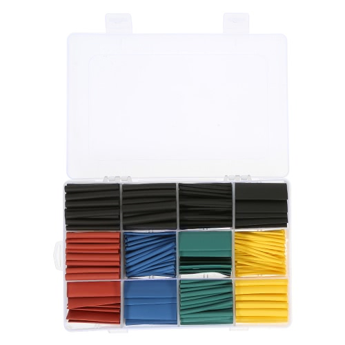 530pcs Colorful Polyolefin Halogen-Free Heat Shrink Tubing Tube Sleeving Wrap Wire Cable Kit 8 Size Shrink Ratio 2:1 ?1.5-?10mmTest Equipment &amp; Tools<br>530pcs Colorful Polyolefin Halogen-Free Heat Shrink Tubing Tube Sleeving Wrap Wire Cable Kit 8 Size Shrink Ratio 2:1 ?1.5-?10mm<br>