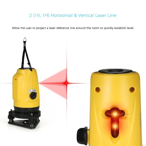 Professional Household 2 Lines Cross Laser Level 360° Rotary Cross Line Self Leveling Vertical &amp; Horizontal Line with Adjustable HTest Equipment &amp; Tools<br>Professional Household 2 Lines Cross Laser Level 360° Rotary Cross Line Self Leveling Vertical &amp; Horizontal Line with Adjustable H<br>