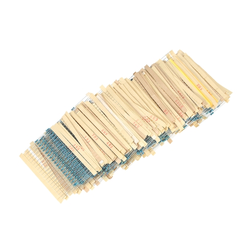 3120pcs 156 Values 1 ohm to 10M ohm 1/4W 1% Metal Film Resistors Assortment Kit Electronic ComponentsTest Equipment &amp; Tools<br>3120pcs 156 Values 1 ohm to 10M ohm 1/4W 1% Metal Film Resistors Assortment Kit Electronic Components<br>