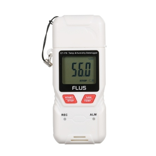 FLUS USB Humidity and Temperature Data Logger Recorder with LCD Screen High-Accuracy Thermometer Hygrometer Temperature Humidity Guage