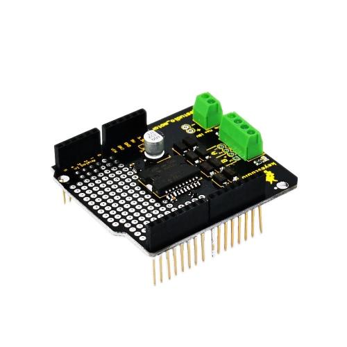 Arduinoのためのブランドの新しいL298P 2AモジュールKeyestudio大電流デュアルDCモータドライバシールドボードの互換性