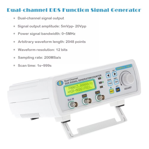 High Precision Digital Dual-channel DDS Function Signal Generator Arbitrary Waveform Frequency Meter 0-5MHz Power Signal BandwidthTest Equipment &amp; Tools<br>High Precision Digital Dual-channel DDS Function Signal Generator Arbitrary Waveform Frequency Meter 0-5MHz Power Signal Bandwidth<br>