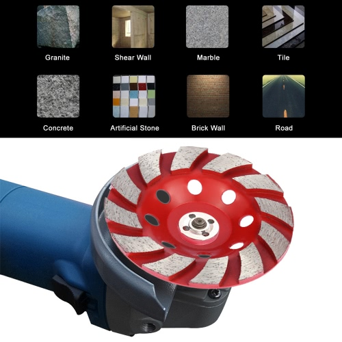 100mm 4 Diamond Segment Grinding Wheel Disc Bowl Shape Grinder Cup Concrete Granite Masonry Stone Ceramics Terrazzo Marble for BuTest Equipment &amp; Tools<br>100mm 4 Diamond Segment Grinding Wheel Disc Bowl Shape Grinder Cup Concrete Granite Masonry Stone Ceramics Terrazzo Marble for Bu<br>