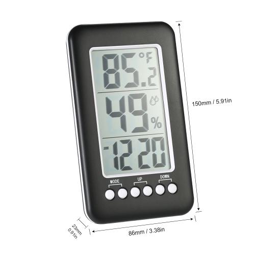 LCD ?/? Wireless Indoor Digital Thermometer Hygrometer Clock Temperature Humidity Meter Alarm ClockTest Equipment &amp; Tools<br>LCD ?/? Wireless Indoor Digital Thermometer Hygrometer Clock Temperature Humidity Meter Alarm Clock<br>