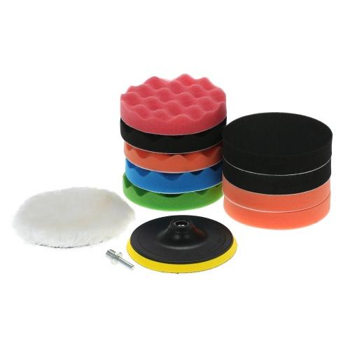 11PCS Brand New 3 80mm/4 100mm/5 125mm/6 150mm/7 180mm Car Polishing Pads Waxing Buffing Pad Sponge Kit Set for Car PolisherTest Equipment &amp; Tools<br>11PCS Brand New 3 80mm/4 100mm/5 125mm/6 150mm/7 180mm Car Polishing Pads Waxing Buffing Pad Sponge Kit Set for Car Polisher<br>