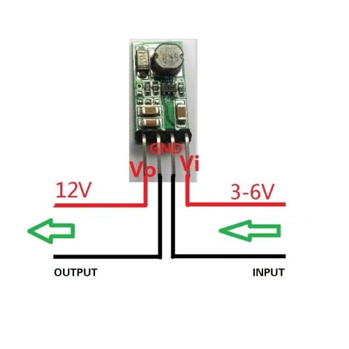 Mini DC-DC 3.3V 3.7V 4.5V 5V to 12V Step Up Boost Converter Module for Smart HomeTest Equipment &amp; Tools<br>Mini DC-DC 3.3V 3.7V 4.5V 5V to 12V Step Up Boost Converter Module for Smart Home<br>