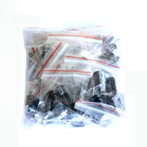 125Pcs Commonly Used Total Electrolytic Capacitor Assortment Kit Set 25 Values 1uF to 2200uFTest Equipment &amp; Tools<br>125Pcs Commonly Used Total Electrolytic Capacitor Assortment Kit Set 25 Values 1uF to 2200uF<br>