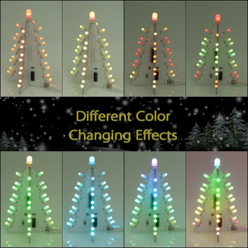 DIY Light Control Full Color LED Big Size Christmas Tree Decoration with 14 Lighting Modes Electronic Learning KitTest Equipment &amp; Tools<br>DIY Light Control Full Color LED Big Size Christmas Tree Decoration with 14 Lighting Modes Electronic Learning Kit<br>