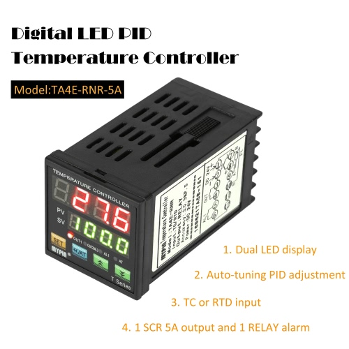 Digital Intelligent LED PID Temperature Controller Thermometer Coil Heater Heating Cooling Control TC/RTD Input SCR Output 1 RelayTest Equipment &amp; Tools<br>Digital Intelligent LED PID Temperature Controller Thermometer Coil Heater Heating Cooling Control TC/RTD Input SCR Output 1 Relay<br>