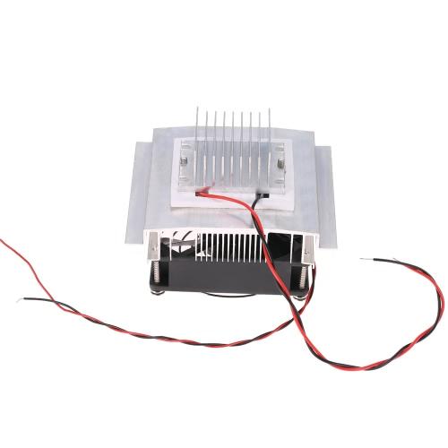 DIY термоэлектрический Пельтье Охлаждение Охлаждение Проводимость модуль системы Kit Semiconductor Cooler + радиатор + вентилятор + TEC1-12706