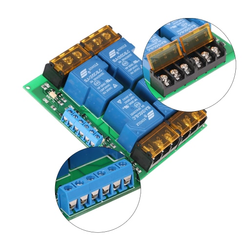 4-Channel DC 12V 30A Relay Module Control Board Optocoupler Isolation High/Low TriggerTest Equipment &amp; Tools<br>4-Channel DC 12V 30A Relay Module Control Board Optocoupler Isolation High/Low Trigger<br>